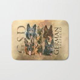 German Shepherd dog - GSD collage Bath Mat