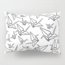 Origami Cranes Linocut Pillow Sham