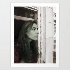 Selfie Portrait  Art Print