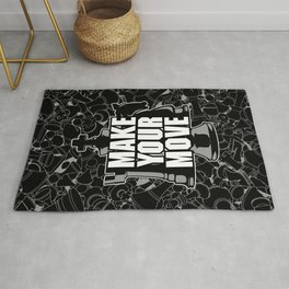 Make Your Move Chess Rug