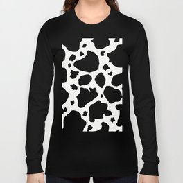 black and white animal print cow spots Long Sleeve T-shirt