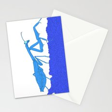 Blue Praying Mantis Stationery Cards
