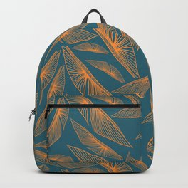 Feathered Leaf Pattern Backpack