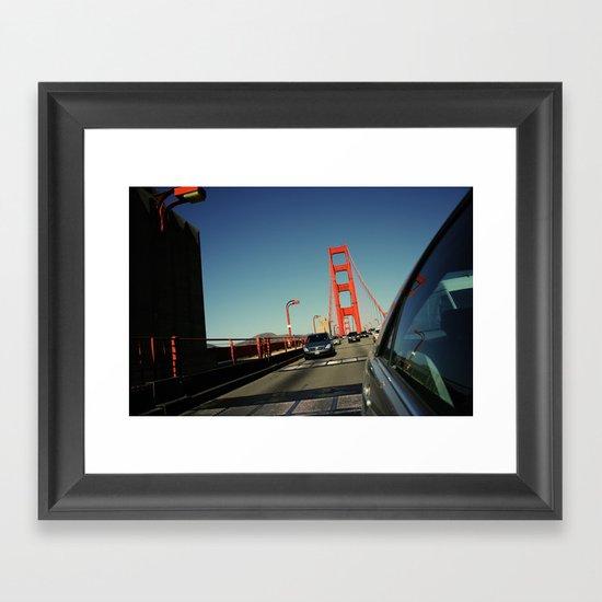 Golden Gate Bridge; Mid-Crossing. Framed Art Print
