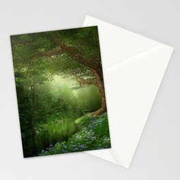 Summer Forest River Stationery Cards