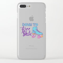 Down to Free Skate Clear iPhone Case