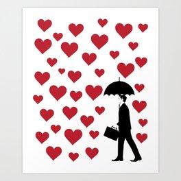No Love Business Man Art Print