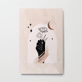Abstract Hand2 Metal Print