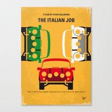 No279 My The Italian Job minimal movie poster Canvas Print