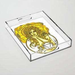 Solar Plexus Chara Acrylic Tray