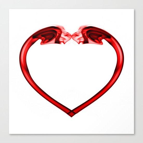 Love Smoke Red 2 Canvas Print