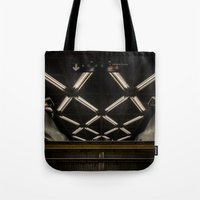 subway Tote Bags featuring SUBWAY by paulmhoward