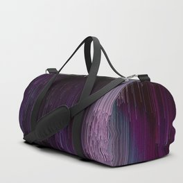 Darkness Glitches Out - Abstract Pixel Art Duffle Bag