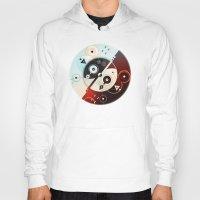 ying yang Hoodies featuring Ying-Yang Blue Version by Luis Pinto