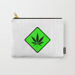 Weed Cannabis art work 420 pot head gift Carry-All Pouch