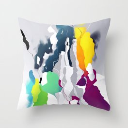 Who squashed the skyline Throw Pillow