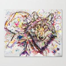 Wolf // Cuetlachtli Canvas Print