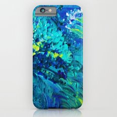 DIVE IN - Beautiful Textural Abstract Acrylic Painting Ocean Waves Beach Art Home Decor Gift Slim Case iPhone 6s