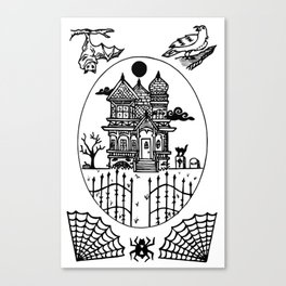 Ominous Victorian House Canvas Print
