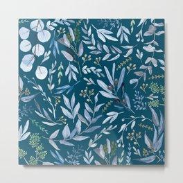Eucalyptus Blue Metal Print