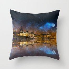 Dresden At Night Throw Pillow