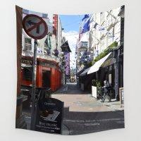 dublin Wall Tapestries featuring Dublin Streets by Ashley Callan