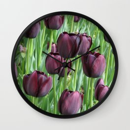 puple tulip Wall Clock