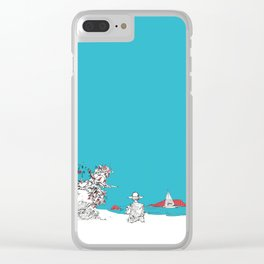 New Year Eve at the beach, New Zealand Clear iPhone Case