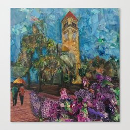 Lilac City 2: Clock Tower, Riverfront Park Canvas Print
