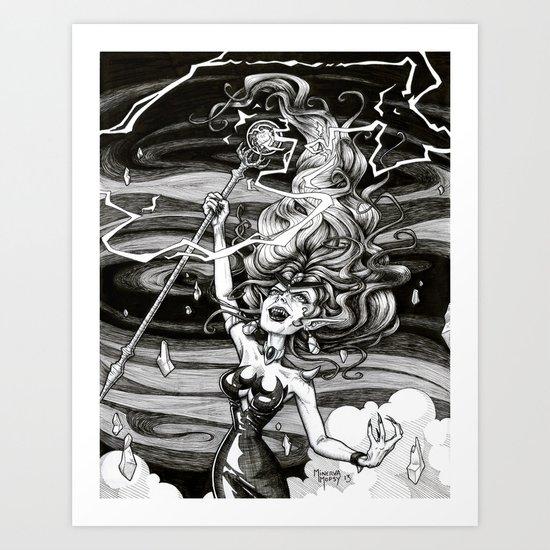 Our Queen of Destruction Art Print