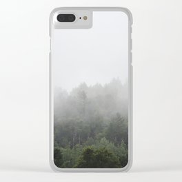 Foggy Forest Mist Landscape Photography | Woods | Nature | Travel | Rustic Clear iPhone Case