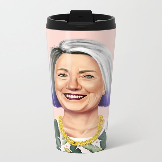Hipstory - Hillary Clinton Metal Travel Mug