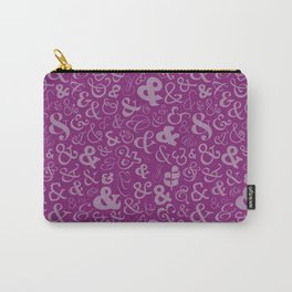Ampersands - Purple Carry-All Pouch