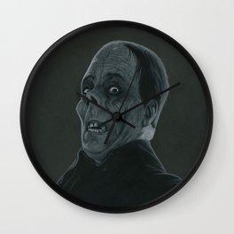 The Opera's Phantom on vinyl record print Wall Clock