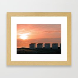 Pink Sunset over the North Sea Framed Art Print