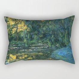 Claude Monet Dark Water  Lilies Rectangular Pillow