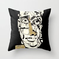 golden Throw Pillows featuring Golden by 5wingerone