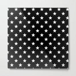 Black And White Stars Metal Print