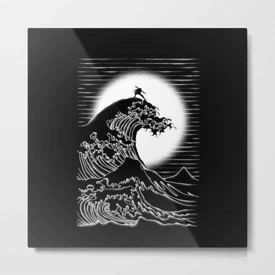 Waterbending (Black) Metal Print