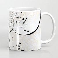 radio Mugs featuring Radio Frequency by Angela Pesic
