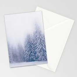 Foggy forest watercolor painting #9 Stationery Cards