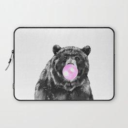 Bubble Gum Big Bear Black and White Laptop Sleeve