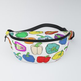 Rainbow Bell Peppers Paprika Fanny Pack