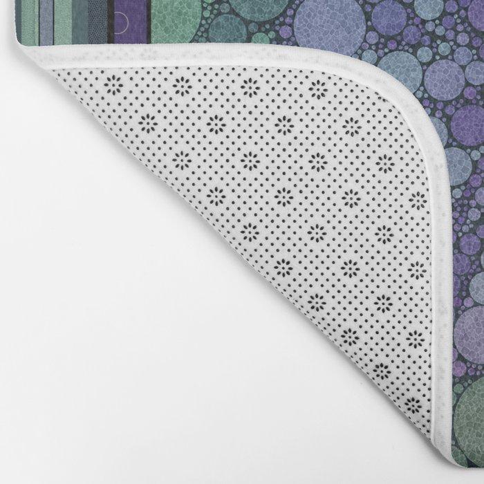Percolated Purple Potato Flower Bath Mat