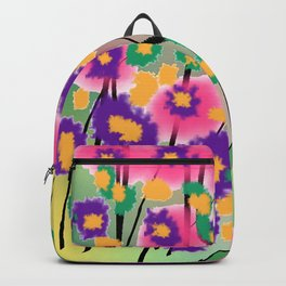 Impressionist Pretty Pink Blossoms Backpack