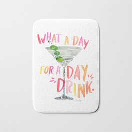 What a Day for a Day Drink – Melon Typography Bath Mat