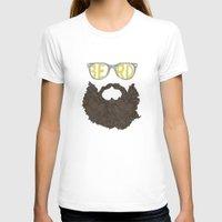 beard T-shirts featuring Beard by Pedro Barbosa