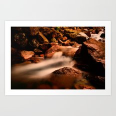 Long Exposure Waterfall  Art Print