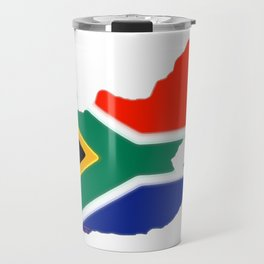 South Africa Map with South African Flag Travel Mug