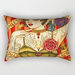 Chapel Tattoo vintage poster art Rectangular Pillow